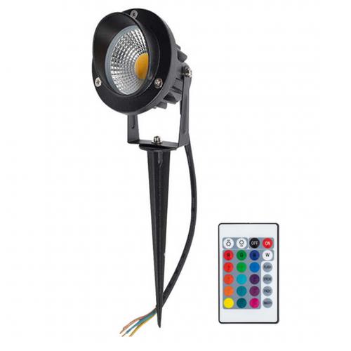 Beleuchtungonline.de LED Gartenstrahler 9W - IP65 - RGB - Integrierte LED