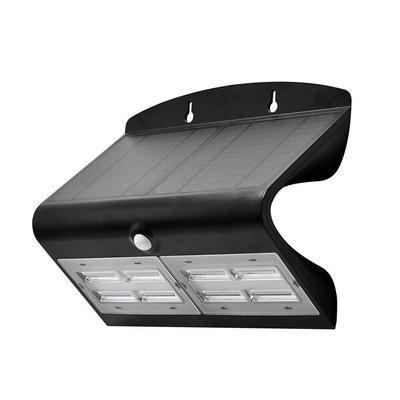 Solar Gartenleuchte mit Bewegungssensor - 7W - 4000K - 800 Lumen - Schwarz
