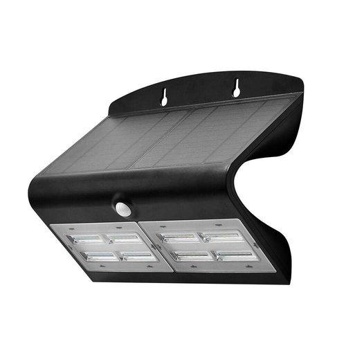 Beleuchtungonline.de Solar Gartenleuchte mit Bewegungssensor - 7W - 4000K - 800 Lumen - Schwarz