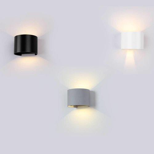 Beleuchtungonline.de LED Wandleuchte Rund Grau - Beidseitig - 3000K - 6W