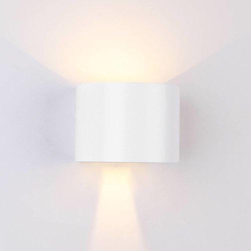 Beleuchtungonline.de LED Wandleuchte Rund Weiß - Beidseitig - 3000K - 6W