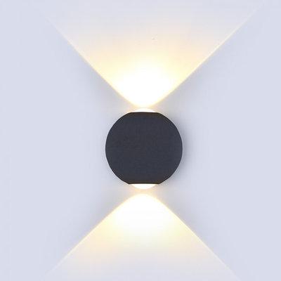 LED Wandleuchte Globe Schwarz - Beidseitig - 3000K - 6W