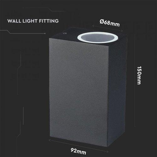 Beleuchtungonline.de LED Wandleuchte Rechteck Schwarz - Beidseitig Exkl. Spot