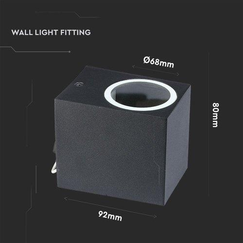 Beleuchtungonline.de LED Wandleuchte Square Schwarz - Exkl. Spot