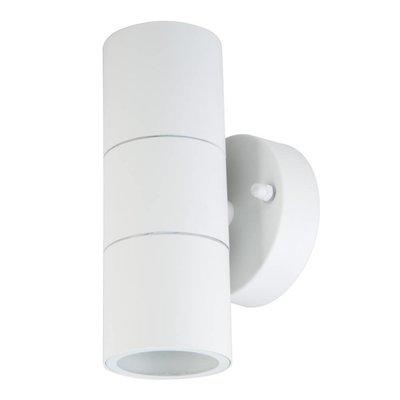 LED Wandleuchte Zylinder Weiß - Beidseitig - Exkl. Spot