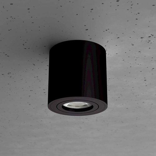 Beleuchtungonline.de LED Aufbaustrahler Schwarz Kippbar Rund