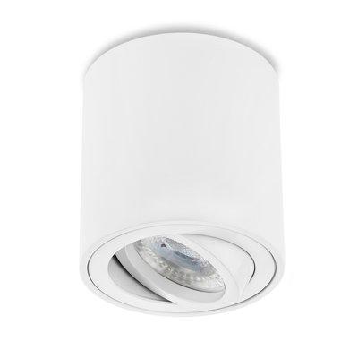 LED Aufbaustrahler Weiß Kippbar Rund