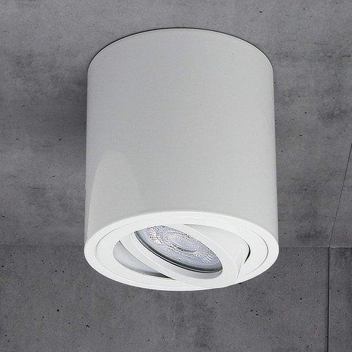 Beleuchtungonline.de LED Aufbaustrahler Weiß Kippbar Rund