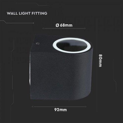 Beleuchtungonline.de LED Wandleuchte Rund Schwarz - Exkl. Spot