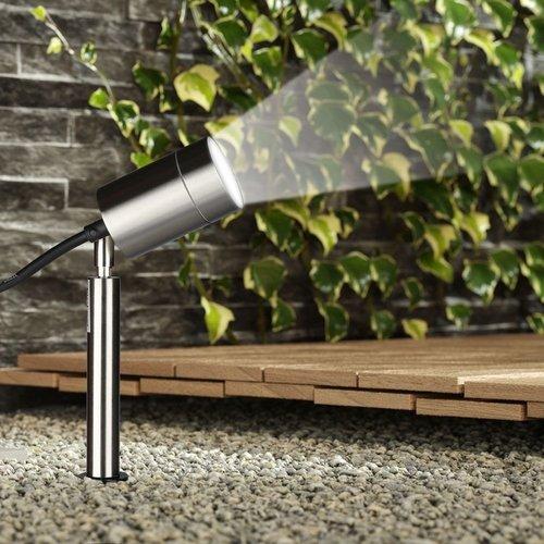 Beleuchtungonline.de LED Gartenstrahler  Edelstahl - IP44 - GU10 Fassung