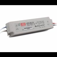 Meanwell Meanwell LED Transformator 36 Watt - LPV-35-12 - IP67 - Niet Dimmbar