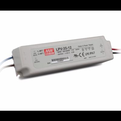 Meanwell LED Transformator 36 Watt - LPV-35-12 - IP67 - Niet Dimmbar