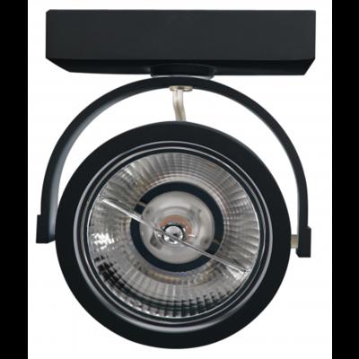 LED Aufbaustrahler Schwarz Kippbar - AR111