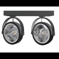 Beleuchtungonline.de LED Aufbaustrahler Doppelt Schwarz Kippbar - AR111