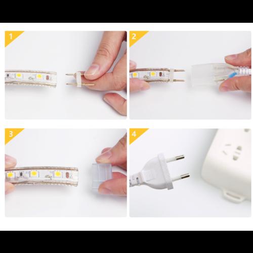 Beleuchtungonline.de LED Strip 50M - Blau - IP65 - 60 LEDs - Plug & Play