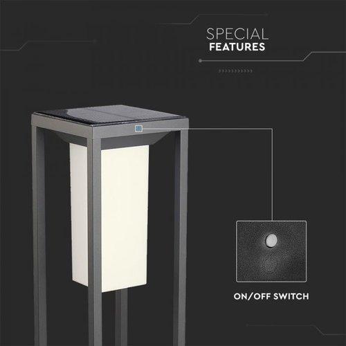 Beleuchtungonline.de Samsung Solar Gartenleuchte mit Bewegungssensor - 2W - 3000K - 280 Lumen