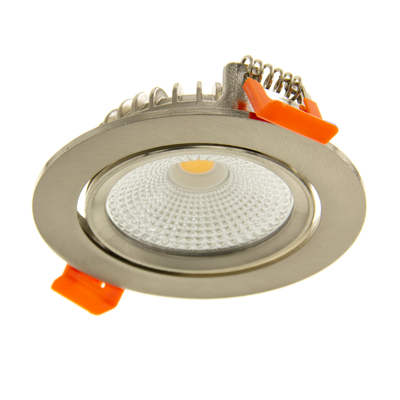 LED Einbaustrahler Edelstahl - 5W – IP44 – 2700K - Kippbar