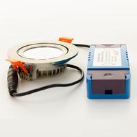 Beleuchtungonline.de LED Einbaustrahler Edelstahl - 5W – IP44 – 2700K - Kippbar