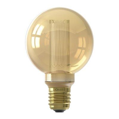 Calex Globe LED Lampe G80- E27 - 100 Lm - Gold - Vintage Lampe