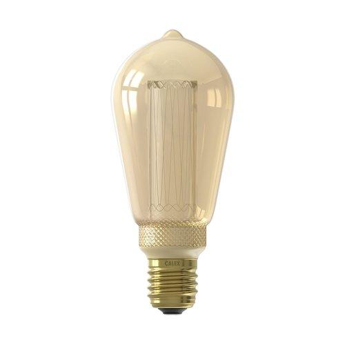 Calex Calex Rustikal LED Lampe - E27 - 100 Lm - Gold - Vintage Lampe