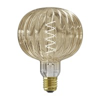 Calex Calex Metz Amber Led G125 220-240, 200LM 4W, 2000K E27 Pulse range dimmable - Vintage Lampe