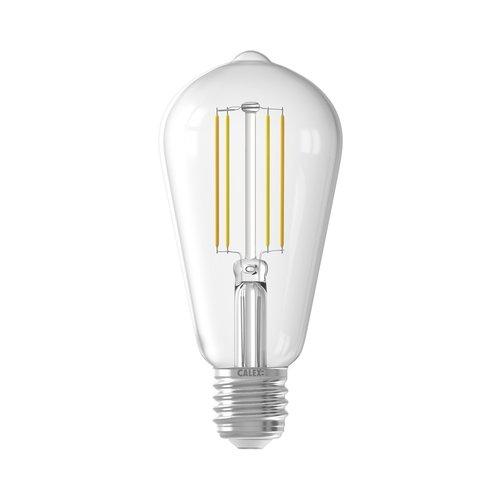 Calex Calex Smart LED Filament Transparent Rustic-lamp 7W - Vintage Lampe