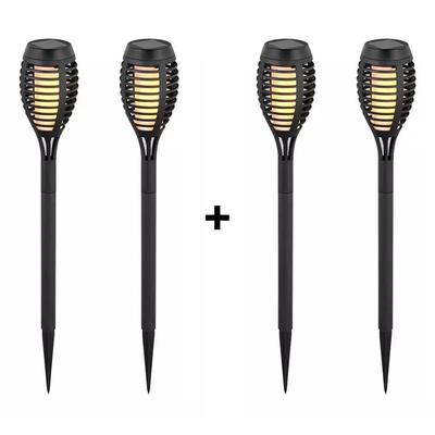 LED Solar Gartenfackel - Flammeneffekt & Dämmerungsschalter - 50CM