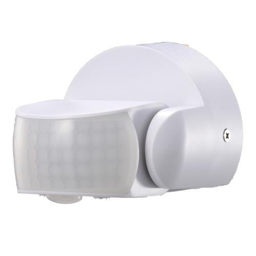 Beleuchtungonline.de Weißer Aufbau Bewegingssensor 180° mit Dämmerungsschalter 12M Reichweite Max. 600W IP65