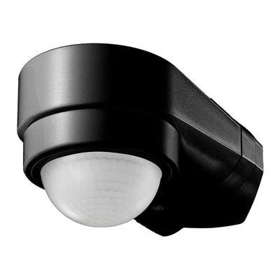 Schwarzer Aufbau Bewegingssensor 240° mit Dämmerungsschalter 10M Reichweite - IP65
