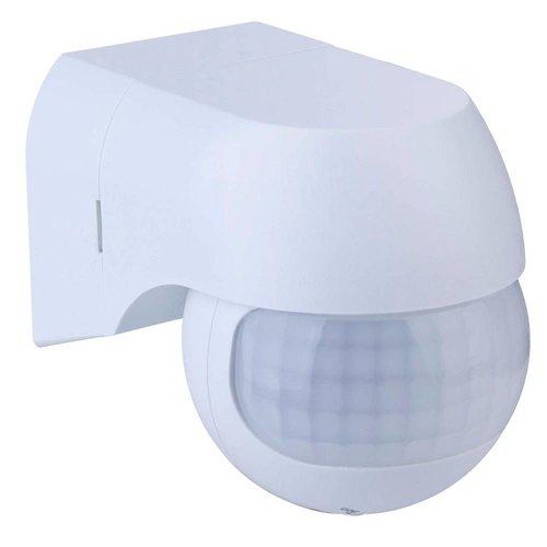 Beleuchtungonline.de Weißer Aufbau Bewegingssensor 180° mit Dämmerungsschalter 12M Reichweite