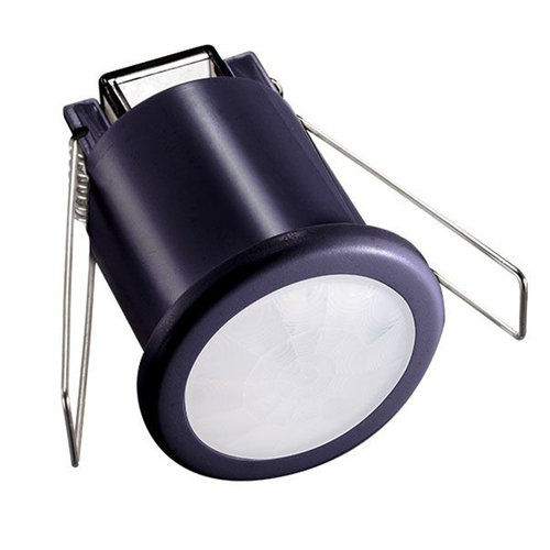 Beleuchtungonline.de Schwarzer Einbau Bewegingssensor 360° mit Dämmerungsschalter 8M Reichweite