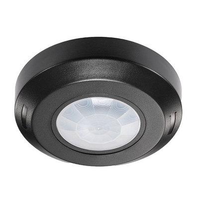 Schwarzer  360° Bewegingssensor mit Dämmerungsschalter 8M Reichweite