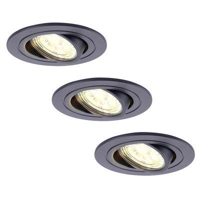 Philips LED Einbaustrahler - 5W - Schwarz - Dimmbarer - 2700K - 3 Pack