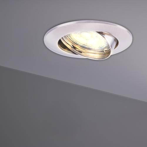 Philips Philips LED Einbaustrahler Edelstahl - Dimmbar - 5W - Warmweiß