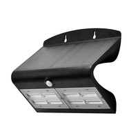 Lightexpert Solar Gartenleuchte mit Bewegungssensor - 7W - 4000K - 800 Lumen - Schwarz