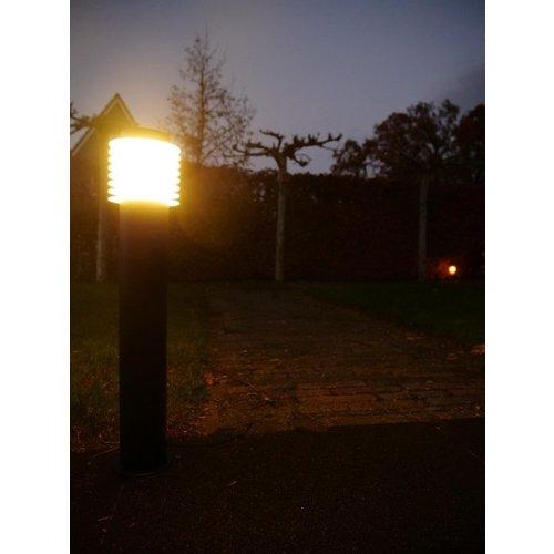 Beleuchtungonline.de Gartenpfostleuchte Schwarz - München - 700lm - 9,5W - 2700K
