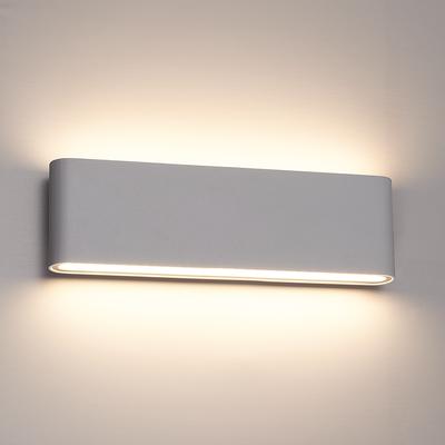 Dimbare LED Wandleuchte Dallas XL Grau 3000K - 24W - IP54