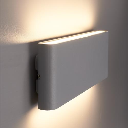 Beleuchtungonline.de Dimbare LED Wandleuchte Dallas XL Grau 3000K - 24W - IP54
