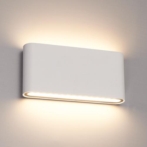 Beleuchtungonline.de Dimbare LED Wandleuchte Dallas M Weiß 3000K - 12W – IP54