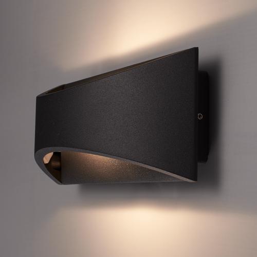 Beleuchtungonline.de LED Wandleuchte Beidseitig - Schwarz  - 3000K -  6W - IP54