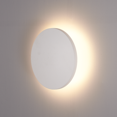 LED Wandleuchte Weiß Rund - 3000K -  6W - IP54