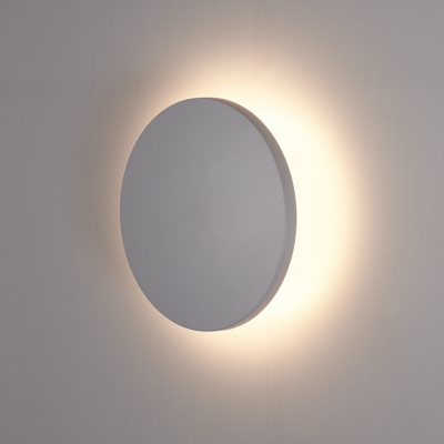 LED Wandleuchte Grau Rund - 3000K -  6W - IP54