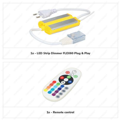 Beleuchtungonline.de LED Strip RGB Dimmer & Fernbedienung
