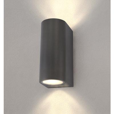 LED Wandleuchte - Rund Anthrazit - Beidseitig