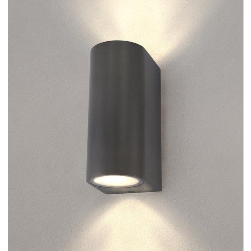 Ledvion LED Wandleuchte - Rund Anthrazit - Beidseitig