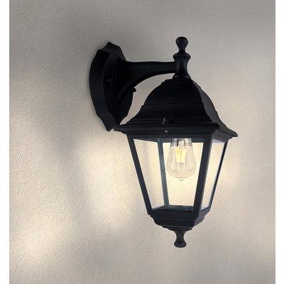 LED Wandleuchte - Classic Vela - schwarz - E27