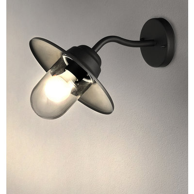 LED Wandleuchte - Virgo - schwarz - E27