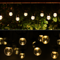 Lightexpert LED String Light 8m - IP44 - 10 Transparante  LEDs - Lichterkette Außenbereich