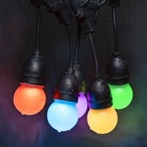 Lightexpert LED String Light 6,6m - IP65 - 12 RGB  LEDs - Lichterkette Außenbereich