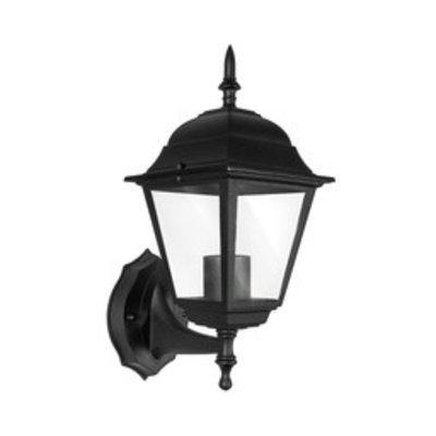 Klassische Außenlampe Schwarz - E27